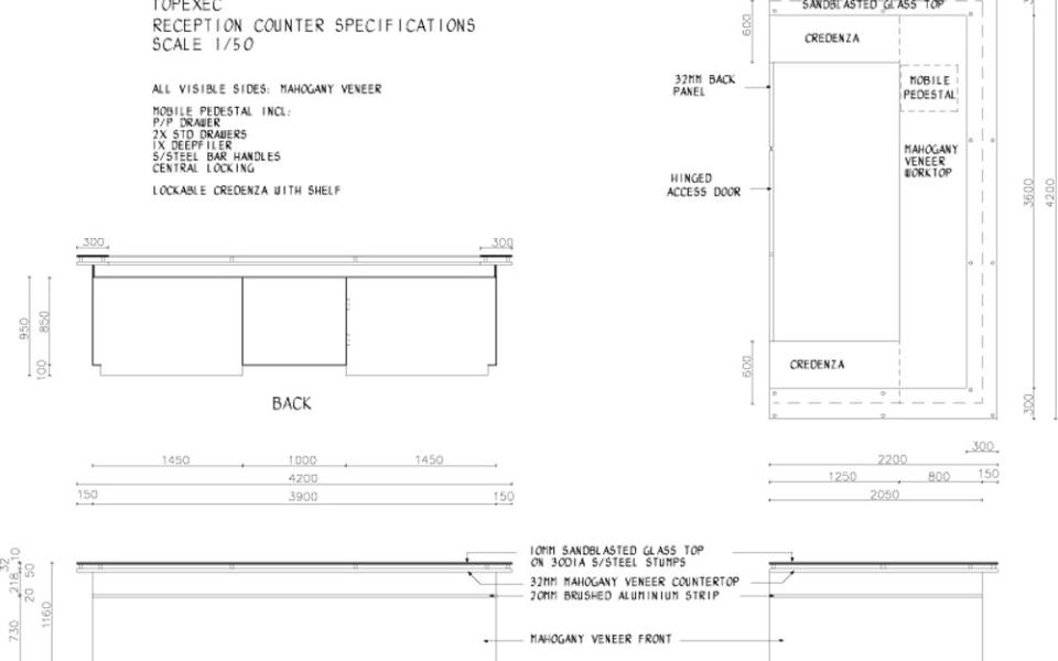 Topexec Reception Counter Design