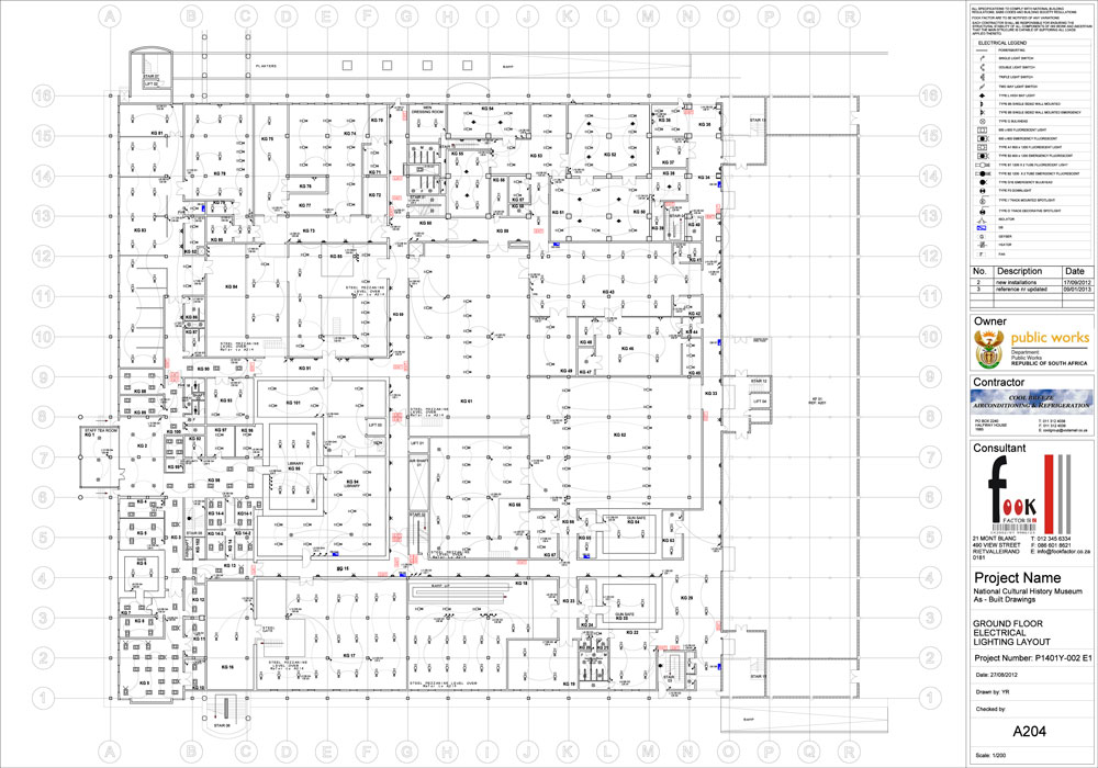 As built council drawings fook factor for Electrical as built drawings sample
